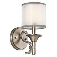 This Boswell 1 Light Wall Sconce from the Boswell Collection offers a beautiful contrast, melding the charm of Olde World style with clean modern-day materials. It starts with our Antique Pewter Finish and bold, unadorned rounded-arm styling. It finishes with avant-garde double shades made of decorative mesh screens and Opal inner glass.
