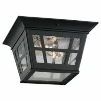 Beautify your outdoor setting with the Laurel 2-Light Outdoor Flush Mount. It is constructed from aluminum and glass that makes it robust and durable. This Laurel 2-Light Outdoor Flush Mount has a finish that lends a stylish appeal. The contemporary light accommodates different kinds of bulbs with different wattage for convenient use. It has photocell included and works 120 volts. It is eco-friendly and has minimal impact on the environment. It is ideal for commercial as well as residential...
