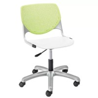 This attractive and comfortable task chair is the perfect fit for almost any application! Great as a desk chair, training and conference rooms, collaborative areas or any multi-use application. The ergonomic perforated back allows for enhanced circulation, while the radius conforms to your back for maximum comfort. The chair offers a contoured extra wide seat pan to provide comfort and accommodate all sizes. The seat is supported by a steel frame with secures to the base for maximum durability....