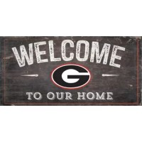 This sign is painted in team colors and includes your favorite team's logo. The text,