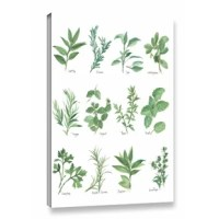'Herb Chart' Graphic Art on Wrapped Canvas in White/Green is a stunning reproduction featuring a beautiful herb themed design. A wonderful conversation piece that will compliment any home or office.