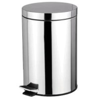 Keep any room clean and free of trash with this rounded stainless steel waste bin. It features an alluring polished silver finish that complements perfectly with modern stainless steel appliances. A Step activated lid adds convenience, by keep garbage and its unsightly odors solely within the confines of the interior plastic bucket. Easily remove the bucket by lifting the metal handle to clear the contents then slide it back inside when finished. The non-skid base also prevents the bin from...