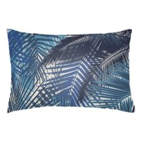 Add a touch of tropical flair to your outdoor furniture with this lumbar pillow! The cover of this piece is crafted in the USA from polyester, and features a reversible design with a pattern of palm fronds that's perfect for a breezy look indoors and out. Plus, with an included polyfill insert, it's ready to join your furniture as soon as it arrives. Whenever this piece needs a pick-me-up, we recommend a quick spot clean and line dry.