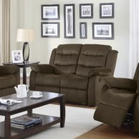 Sit back and relax in your living room with a loved one, in this comfy, casual reclining loveseat. Melt into the scoop seat, lean back on the plush triple channel back, rest your arms on the pillow arms, and lounge.
