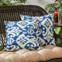 Add a stylish and contemporary accent to your outdoor furniture with this set of two Charlton Home square accent pillows. Each pillow is overstuffed with 100% soft polyester fill, made from 100% recycled, post-consumer plastic bottles, for added comfort, strength and durability. Its exterior shell is made from a 100% polyester UV-resistant outdoor fabric.
