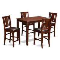 This Lightner 5 Piece Counter Height Dining Set including a dining table and 4 dining chairs. This amazing Lightner rectangular modest counter height table and chairs set is undoubtedly the excellent add-on to any kind of modern dining-room with its rectangular shape as well as the desirable rich color finish. The counter height table conveniently seats a couple of people and offers an abundance of legroom beneath. Transition edges on the tabletop provide you with a touch of class to this...