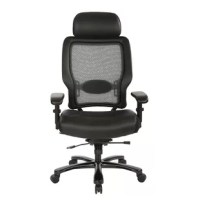 The professional choice in office seating, this ergonomic office chair helps you get the job done. Enjoy the comfort of the breathable mesh back with adjustable lumbar support and the thick, padded, memory foam, mesh seat as it contours to your body throughout the day. Customize your seating experience with multiple ergonomic adjustments for increased comfort, helping you stay productive and on task. Get the support you need with the professional R2 space grid back manager's chair.