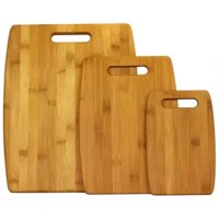The Oceanstar Design 3 Piece Bamboo Cutting Board Set is ideal for chopping various kinds of foodstuff. The three different sizes of small, medium and large chopping boards let one use them for varying purposes. This reduces the chance of the cross-contamination. All the three cutting boards have a built-in handle, which allows for simplified maneuvering. The 3 Piece Bamboo Cutting Board Set from Oceanstar Design is made from high-quality bamboo. The material used for the three chopping boards...