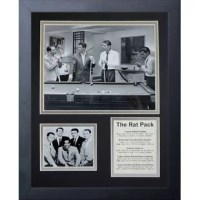 This beautifully matted collector's photo presentation is a collage containing a photo offset with an additional photo, coupled with a biography. All photos and biography are bevel-cut and double matted under glass. This quality collector's piece is designed for visual appeal. This piece comes framed in a beautifully sculpted black lacquered frame. A unique collectible for any fan and they make a great gift as well.