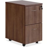 Essentials 2-Drawer Vertical Filing Cabinet offers a file/file configuration and high-quality laminate construction that blends well with Lorell Essentials Series Laminate Furniture. The Essentials Series offers high-quality laminate construction and a contemporary design. Each file drawer includes hangrails and holds letter-size and legal-size hanging folders. Locking pedestal rolls easily on four dual-wheel casters. Design also includes metal drawer pulls with a silver brush finish and PVC...