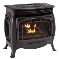 The Dual Fuel Ventless 1,200 Square Foot Gas Free-Standing Stove by Duluth Forge gives you the perfect combination of beauty and high tech heating performance. This stove holds onto the look and feels of a classic, vintage piece of old charm while fulfilling a solid performance of 26,000 BTU and includes a thermostatic remote control.  It includes a cast iron screen door with subtle exterior designs that allow for excellent visibility of the dual flame burner. Although it has the charm of an...