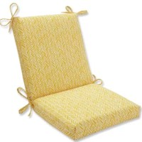 Bold and sunny buttery yellow gives any outdoor space a cheerful feeling, no matter where you use this plush Outdoor Chaise Lounge Cushion. The richly textured fabric brings out a playful look in the varied herringbone pattern, which is complemented by the matching ties that adds a finishing touch to your decor.