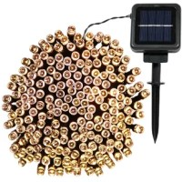 This LED solar powered string light comes with a panel, solar rechargeable battery and a string of lights that you can use to line your patio, porch or outdoor furniture. You can stake the panel into the ground or mount it on a wall, whichever works best for you. Because this luminary is rated for outdoor use, you can use them year-round for decorating. If the panel receives 6-8 hours of full direct sunlight, the lights are capable of operating for 7-8 hours in the evening after the sun goes...