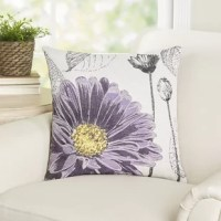 A vibrant daisy design lends a pop of color to this stylish pillow, perfect bringing a dash of garden-inspired style to your entryway bench or adding a plush touch to your favorite reading nook.