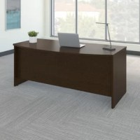 Expand your office functionality with Series C Elite. This Series C Elite Bow Front Desk Shell in mocha cherry features a class desk shell design and offers an extended and inviting work surface area to spread work out or meet with associates. The thermally fused laminate surface construction and durable edge banding deliver strength and quality with a classic rich finish for long lasting beauty. Enjoy integrated wire management grommets on the work surface to keep cables neatly tucked away....