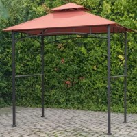 This Sunjoy grill gazebo provides optimal shade for your outdoor BBQ party on a hot sunny day. With a durable, soft canopy top, and sturdy post this grill gazebo is truly the ultimate in grill protection and convenience. The durable canopy protects you from harmful UV rays and has a stable steel frame.  The grill gazebo by Sunjoy is a perfect choice whether you're a casual griller or hardcore grill enthusiast. You'll appreciate the convenience of having two shelves and hooks on either side...