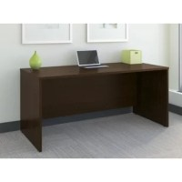 Adaptable to your personal style, the Series C Elite Collection 66W Desk Shell in Mocha Cherry for classic styling with clean lines and extended modesty panels. The Credenza Shell is constructed with thermally fused laminate for durability and superior resistance to scratches and stains. You'll enjoy the integrated wire management located within both desktop and leg grommets to conceal cables to keep your desk area uncluttered. Configure with the 60W Hutch, use as a left or right desk return...