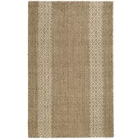Brighten your home with this nature-inspired wool and jute area rug. This stunning rug is perfect for foyers, bathrooms, kitchens, and bedrooms, offering the perfect balance of softness and structure. Its hardwearing weave provides ample protection to your floors and a smooth surface that's soft on bare feet. A neutral beige color palette and striped diamond pattern works well 2with country coastal or modern urban styles. Use your natural fiber rug to create a serene reading area, office...