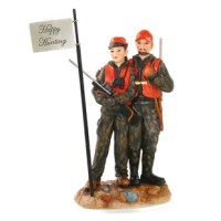 Nothing creates more lasting bonds than adventures together in the woods. Hand-painted with attention to every detail, this resin cake topper includes five scripted flags to choose from and one blank flag for you to customize. Say good-bye to traditional toppers and show your guests where your true passions lie.