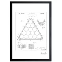 Exclusive blueprints inspired by real vintage patent drawings & illustrations. Produced on framed reflective metallic art print.