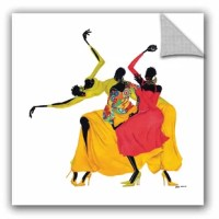 Go Sally Go is a beautiful reproduction featuring three African-American ladies dancing with one another. A conversation piece that will compliment any home or office.