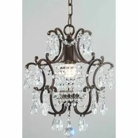 Enhance the beauty of your living space with this clear crystal brown base foyer pendant. The one-light fixture has enough clear crystals to illuminate light throughout a small or large room. The Victorian style of this elegant foyer pendant gives any space an old-world charm. The clear crystal brown base foyer pendant's metal construction makes it durable enough to last many years.