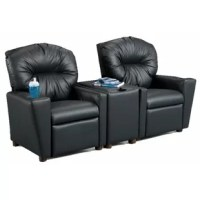 Turning any playroom into a theater, this couch is perfect for pint-sized movie buffs and video gamers. Its solid oak frame is wrapped in upholstery stuffed with cotton for ultra-relaxing comfort, while a reclining feature and footrest round out the experience. Plus, a console table offers space to set drinks and snacks.