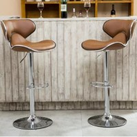 A sleek addition to the kitchen island or breakfast bar, this stool lends your space eye-catching style as it creates a place for your guests to kick back. Crafted from metal, it stands atop a pedestal-style base with an adjustable height and swivels functionality, so you can find the perfect angle every time. A low-backed saddle seat wrapped in faux leather completes the look as it offers you and your guests.
