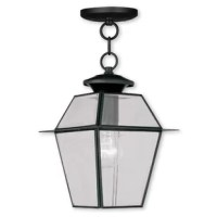 Perfect for adding a touch of light to a covered patio or porch, a hanging light like this is sure to brighten up the night while setting the tone for classic style right from your front door! Perfect for giving your patio a classic touch, this piece is crafted in lantern style from a metal frame with beveled glass panels. Inside, this piece sports two lights that accommodate 60 W bulbs (not included). And since it's designed with damp spaces in mind, it's ideal for staying bright even during...