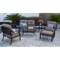 The Nola outdoor furniture collection boasts a timeless design that is elegant yet comfortable and durable. The Nola 6 Piece Sunbrella Sofa Set with Cushions is made with high quality cast aluminum with five stage powder coated antique bronze finish. Guarantee 100% rust free! It will last for many years of family summertime fun and endless outdoor entertainment occasions!