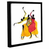 'Go Sally Go' is a beautiful reproduction featuring three African-American ladies dancing with one another. A conversation piece that will compliment any home or office.