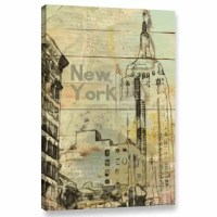 'New York New York' is a breath-taking reproduction featuring a building with beautiful and intricate architecture. A wonderful conversation piece that will compliment any home or office.