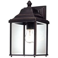 Greet your guests with a warm and welcoming glow out on the front porch or bring a bit of brightness to the backyard with this wall lantern. Constructed to stand up to the outdoor elements, it is crafted from weather-resistant steel that doesn't mind UV light or rain. What really makes it shine? The single light inside that is highlighted by clear glass panels. This traditional lantern design measures 13