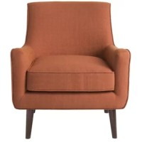 An understated take on mid-century designs, this chic armchair brings chic style and inviting seating to your home.