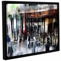 Busy sidewalk is a breath-taking reproduction featuring a beautiful still life with subtle lighting. This 'Busy Sidewalk' Framed Graphic Art Print on Wrapped Canvas is a wonderful conversation piece that will compliment any home or office.