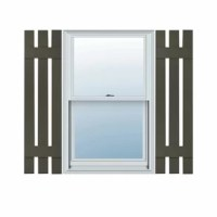 Dress up your windows with this high-quality Lifetime exterior vinyl shutter. The most rustic looking of popular exterior shutter styles, board, and batten house shutters were the most common type of shutter in America until the mid-18th century when lighter and open louver shutters became more common. Today they are most often used to bring back the charm of that era in history and to match the period-style architecture. This shutter is made of durable vinyl, one of the today's most versatile...