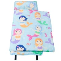 """Say """"hello"""" to your little one's new favorite naptime accessory. The Wildkin children's Microfiber Nap Mat is soft and oh-so-cozy – perfect for daycare snoozes, slumber parties, and living room camp outs. Each Microfiber Nap Mat comes complete with a pillow insert and built-in blanket and pillowcase. Lightweight and functional, the Microfiber Nap Mat features an easy roll-up design complete with fastening straps and attached carrying handle for the ultimate nap-and-go experience."""