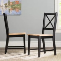 Bring classic cottage style to your dining space with this charming dining chair! Crafted of solid rubberwood in a clean, painted finish, this chair features a cross backrest for a versatile nautical or farmhouse-chic look. Its gently-contoured seat lends added comfort and support, while its four tapered square legs include stretchers for added support and stability. Measuring 35.25