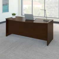 Spread out with all of your work on this product and have space to spare for collaboration. The expansive 72W surface provides plenty of room for your laptop, phone, and paperwork, along with wire management grommets to conceal cables. This product gives guests an extended rounded workspace to pull up chairs and collaborate. Clean lines and extended modesty panels create a classic look, while a thermally fused laminate finish, thick end panels, and rugged edge banding ensure long-lasting...