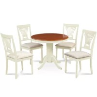 Montevia Contemporary 5 Piece Rubber Solid Wood Dining Set