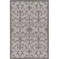 This Turkish Outdoor rug is made of Polypropylene. This rug is easy-to-clean, stain-resistant, and does not shed. Colors found in this rug include Gray, Silver. The primary color is Gray.