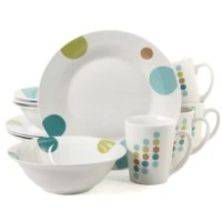 The Buchman Retro Specks 12 Piece Dinnerware Set adds a casual elegance to any tabletop. The set is constructed of fine ceramic porcelain. Included in the set are four each of: 9