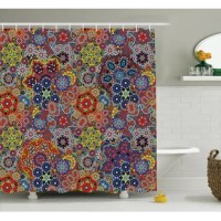 Shower curtain is printed on 100% woven polyester construction for maximum strength. No liner needed. Exclusive design
