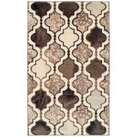 """Add a dramatic accent to your living room, dining room, or foyer with the Colena Geometric Area Rug. Expertly crafted and showcasing a plush 0.31"""" (8mm) pile height, this striking rug has a cozy soft feel that can handle the most high-traffic areas of your home. The opulent and versatile design of the Moroccan trellis pattern will stand out among transitional, eclectic, bohemian or modern aesthetics."""