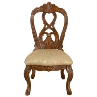 It's upholstered with antic design pattern and very comfortable for home dining. The high quality product adds an elegant decoration to your home.