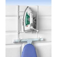 Organize your laundry room with the Over the Door Iron and Ironing Board Holder. This handy rack lets you store your iron and