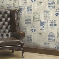 Give your walls a vintage style with this novelty Kennebeck Iffley Programme 33' x 20.5