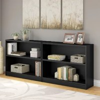 If those stacks of paperbacks are getting dangerously close to toppling over, or you want to show off that favorite curio, add a bookshelf like this to your ensemble! Perfect for the handy organization, this low-profile piece features adjustable shelving, so you can tailor its storage to your needs. It features a clean-lined design that can be easily added to a variety of aesthetics.