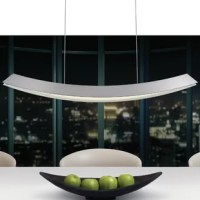 Curved along its length in a subtly tapered arc and flared from top to bottom, the complexity of this Zen-like shape is hidden in its simplicity, but becomes apparent in the functionality with which it renders LED light onto a surface.