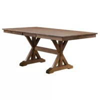 Rutledge Rubberwood Solid Wood Dining Table